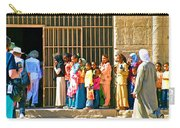 Children And Tourists At Entry To Temple Of Hathor In Dendera-egypt Copy Carry-all Pouch by Ruth Hager
