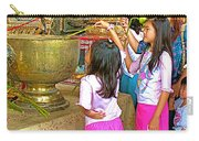Children Bring Lotus Flowers To Royal Temple At Grand Palace Of Thailand Carry-all Pouch