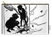 Children Burning Leaves Silhouette Carry-all Pouch