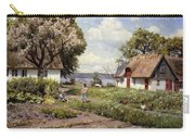 Children In A Farmyard Carry-all Pouch by Peder Monsted
