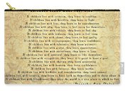 Children Learn What They Live Quote Carry-all Pouch