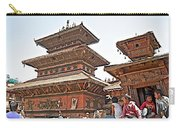 Children On Pagodas In Bhaktapur Durbar Square In Bhaktapur-nepal Carry-all Pouch