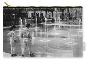 Children Play By Fountain Carry-all Pouch