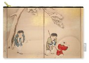 Children Playing In Summer And Winter Carry-all Pouch