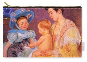 Children Playing With A Cat Carry-all Pouch by Marry Cassatt