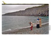 Children Throwing Capelin Back Into The Ocean At Middle Cove-nl Carry-all Pouch