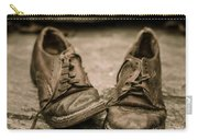 Child's Old Leather Shoes Carry-all Pouch by Edward Fielding