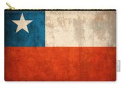 Chile Flag Vintage Distressed Finish Carry-all Pouch