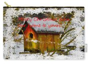 Chilly Birdhouse Holiday Card Carry-all Pouch