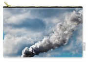 Chimney Exhaust Waste Amount Of Co2 Into The Atmosphere Carry-all Pouch by Ulrich Schade