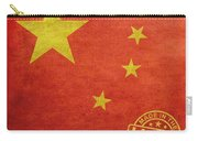 China Flag Made In The Usa Carry-all Pouch by Tony Rubino