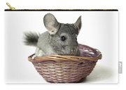 Chinchilla In A Straw Basket  Carry-all Pouch