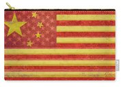 Chinese American Flag Blend Carry-all Pouch