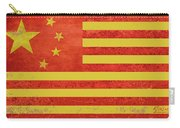 Chinese American Flag Carry-all Pouch by Tony Rubino