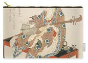 Chinese Beauty Playing The Shamisen Carry-all Pouch by Katsushika II Taito