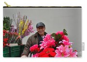 Chinese Bicycle Flower Vendor On Street Shanghai China Carry-all Pouch