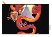 Chinese Dragon On Black Carry-all Pouch