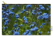 Chinese Forget Me Nots And Honey Bee Carry-all Pouch