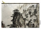 Chinese Mountains With Poem In Ink Brush Calligraphy Of Love Poem Carry-all Pouch