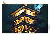 Chinese Pagoda At Night With Full Moon Carry-all Pouch