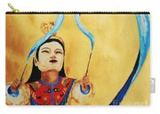 Chinese Ribbon Dancer  Blue Ribbon Carry-all Pouch