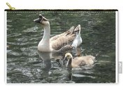 Chinese Swan Goose And Gosling Carry-all Pouch