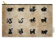 Chinese Zodiac Carry-all Pouch by Delphimages Photo Creations