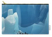 Chinstrap Penguins On Blue Iceberg Carry-all Pouch