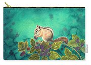 Chipmunk In Blackberry Brambles Carry-all Pouch