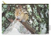 Chipmunk On A Log Carry-all Pouch