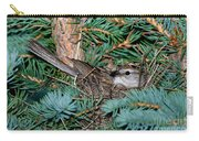 Chipping Sparrow On Nest Carry-all Pouch