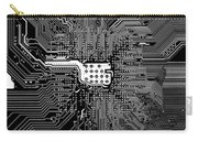 Chipset Black And White Carry-all Pouch