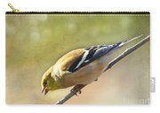 Chirping Gold Finch Carry-all Pouch