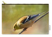 Chirping Gold Finch - Painted Effect Carry-all Pouch