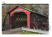 Chiselville Covered Bridge Carry-all Pouch by Edward Fielding