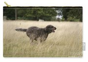 Chocolate Labradoodle Running In Field Carry-all Pouch