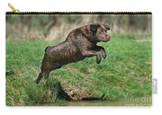 Chocolate Labrador Jumping Carry-all Pouch