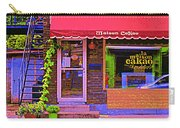 Chocolate Shop La Maison  Cakao Chocolaterie Boulangerie Patisserie Rue Fabre Montreal  Cafe Scene  Carry-all Pouch