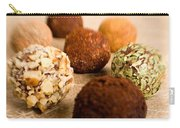 Chocolate Truffles On Gold Carry-all Pouch