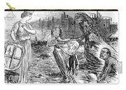 Cholera Cartoon, 1858 Carry-all Pouch
