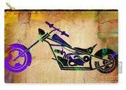 Chopper Motorcycle Painting Carry-all Pouch