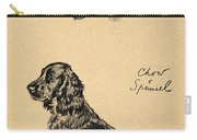 Chow And Spaniel, 1930, Illustrations Carry-all Pouch by Cecil Charles Windsor Aldin