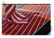 Chris Craft With American Flag Carry-all Pouch by Michelle Calkins