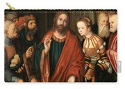 Christ And The Adulteress Carry-all Pouch