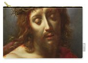 Christ As The Man Of Sorrows Carry-all Pouch by Carlo Dolci