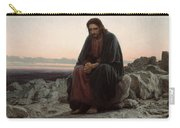 Christ In The Wilderness Carry-all Pouch