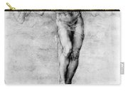 Christ On The Cross Carry-all Pouch by Michelangelo Buonarroti