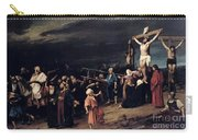 Christ On The Cross Carry-all Pouch by Mihaly Munkacsy
