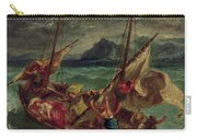 Christ On The Sea Of Galilee Carry-all Pouch by Delacroix