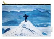 Christ Statue In Rio In Blue Carry-all Pouch